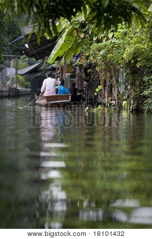Passenger On Floating Market