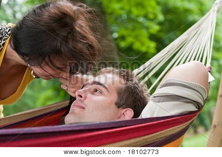 Intimate Moments - Young Couple Outdoors