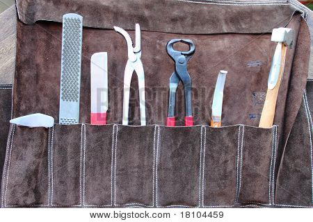 Horse shoeing tools