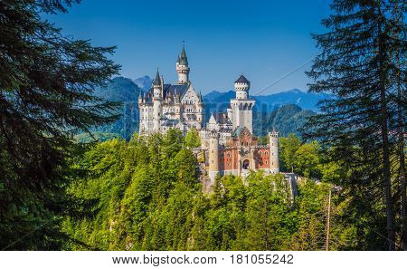 Famous Neuschwanstein Castle With Scenic