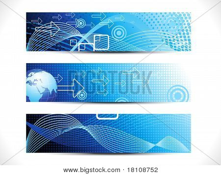 Abstract Digital Web Header Set