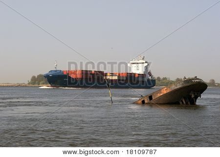 Containership And Wreck