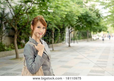 Business Woman On Street