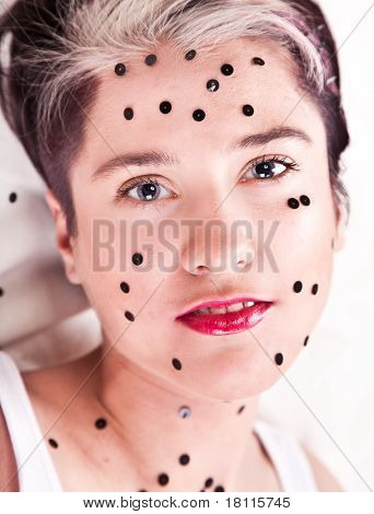 Dotted portrait