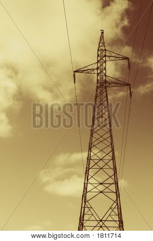 Gold Power Lines