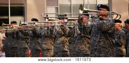 Military Trumpet Players