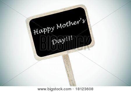 happy mothers day written in a blackboard label