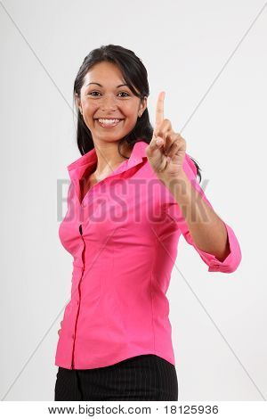 Number one hand gesture