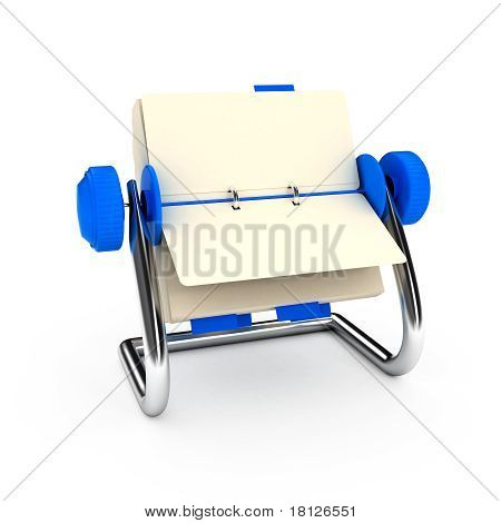 card catalog over white background