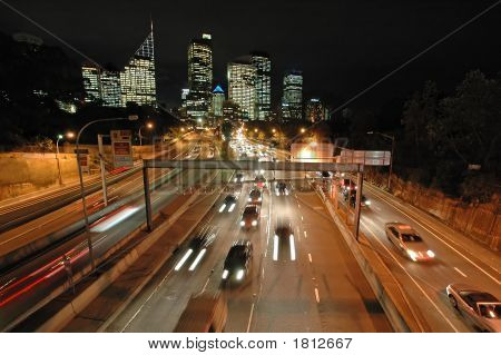 Night Sydney Traffic