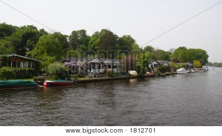 Small Houses At The River Thames