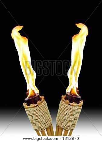 Crossed Tiki Torches