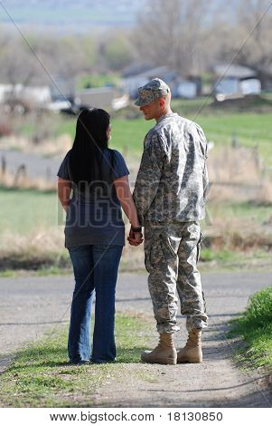 Amerikanischer Soldat-Abschied