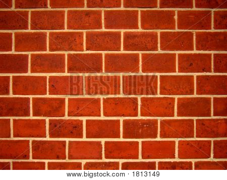 Profile Of A Brick Wall