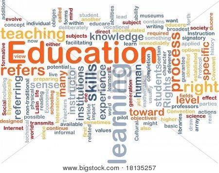 Background concept wordcloud illustration of education