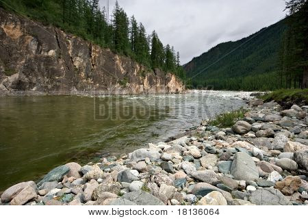 Kitoy river. Siberia. East Sayan Mountains. Buryat Republic.