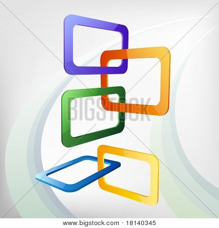 Vector Isometric Abstract Frames Background