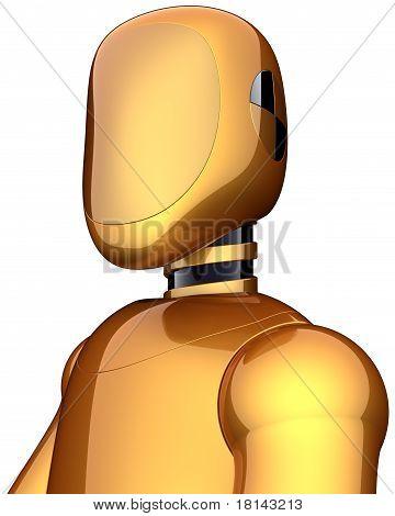Golden crash test dummy safety android