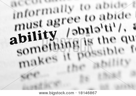 Ability (the Dictionary Project)