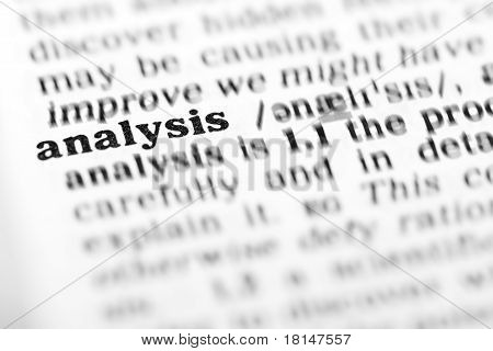 Analysis (the Dictionary Project)