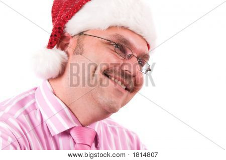 Smiling Business Santa
