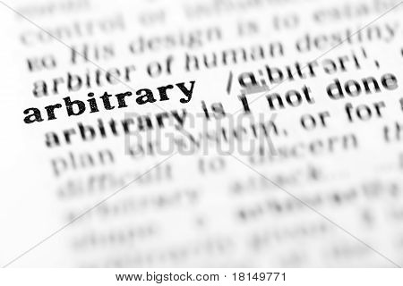 Arbitrary (the Dictionary Project)