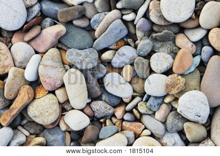Rocks And Pebbles On A Beach