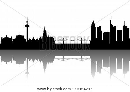 Frankfurt Silhouette black abstract