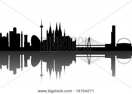 Cologne Skyline abstract