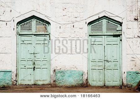 Ottoman Influence Doors In Massawa Eritrea