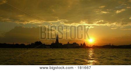 Lagoon Sunset Panorama Venice
