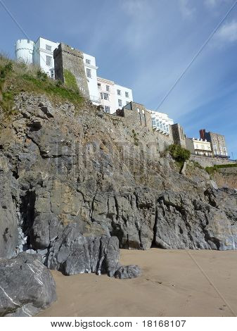 Tenby Buildings On The Cliffs