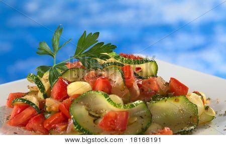 Zucchini with Tomato and Corn