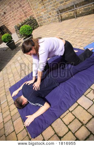 Shoulder Blade Massage