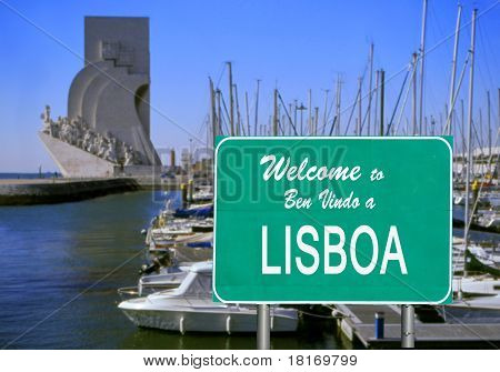 Welcome To Lisbon Sign
