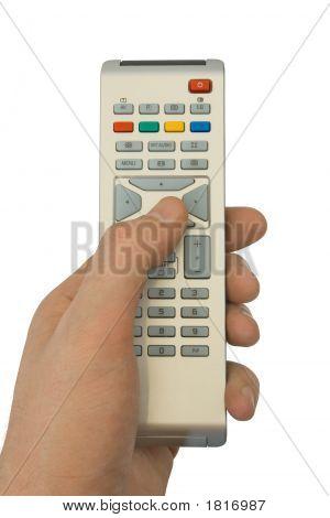 Control remoto en la mano