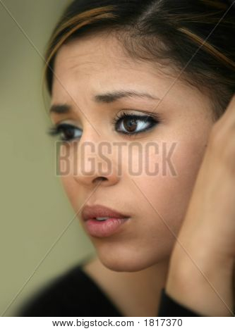 Worried Teen Girl