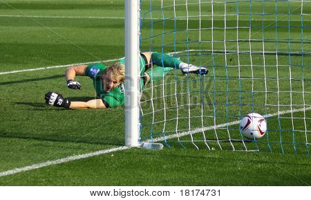 Soccer Goalkeeper Missing A Goal