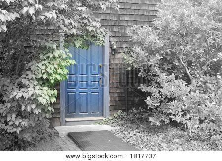 A porta azul