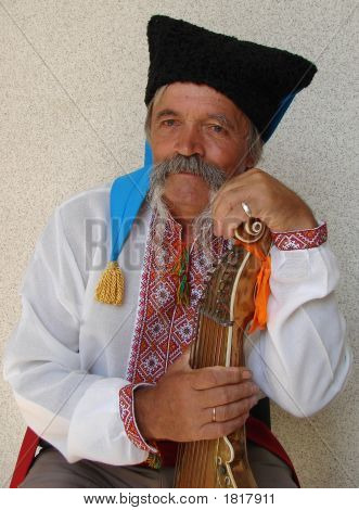 Elder Ukrainian Bandurist Muscian 15