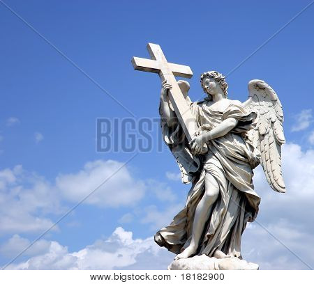 Angel Statue With Cross