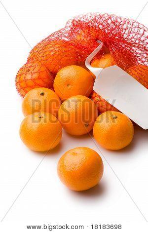 Tangerine in net