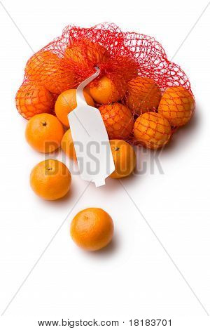 Tangerine in net