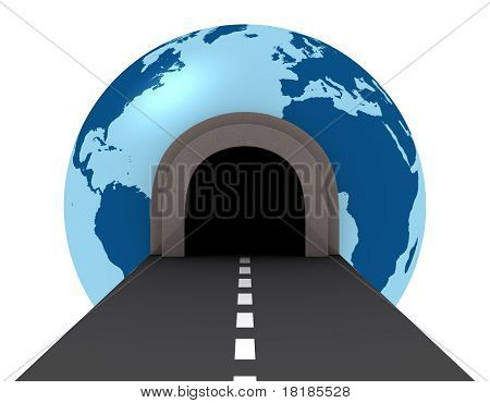 Tunnel Crossing The World