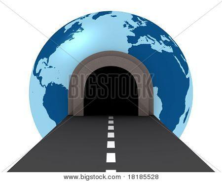 Túnel de recorrer el mundo