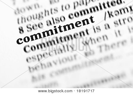 Commitment (the Dictionary Project)