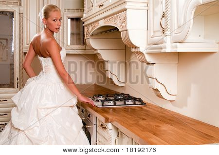Bride In A Luxury Dress