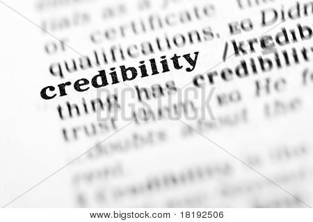 Credibility (the Dictionary Project)