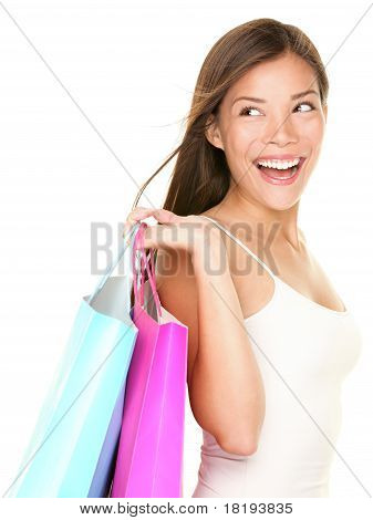 Shopping Woman Happy Looking
