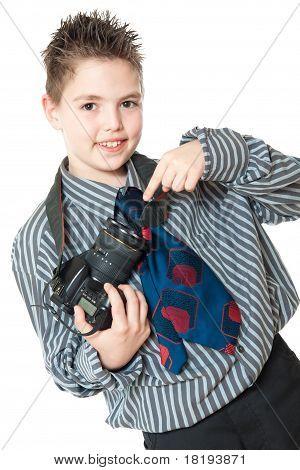 boy and camera